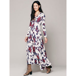 Free People Floral First Kiss Maxi Dress